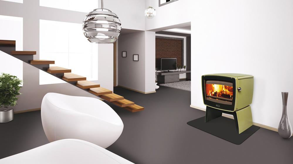 vintage kamin imm stil der 50ger jahre glut eisen. Black Bedroom Furniture Sets. Home Design Ideas