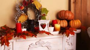 Kaminofen Dekoration Herbst