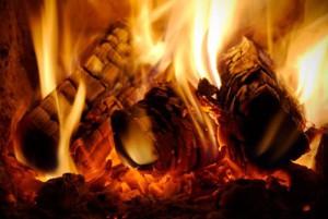 Holzfeuer, Flammen