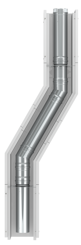 Leichtbauschornstein F90 - Innenrohr mit Ø 80 mm - Jeremias