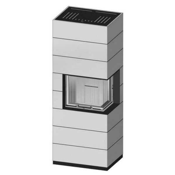 Kaminbausatz SPARTHERM SIM Varia 2R-55h H2O 7,0kW, Schiebetür, wasserführend