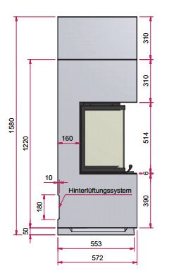 Kaminbausatz CAMINA S16 4kW Speicheranlage