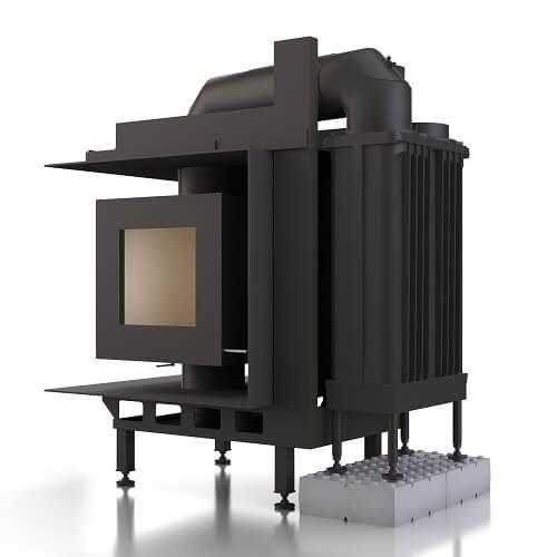 Kachelofeneinsatz Brunner DF 33 Doppelglasscheibe mit GNF 8, 9 kW