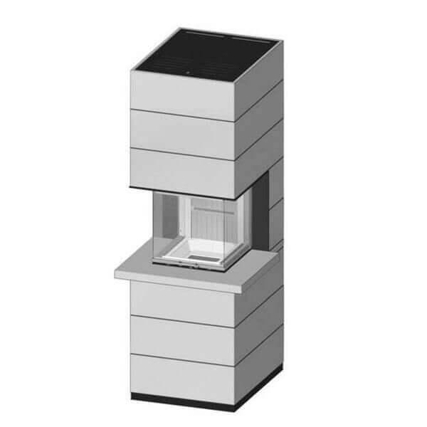 Kaminbausatz SPARTHERM SIM Arte U-50h 9,3kW mit Feuertisch