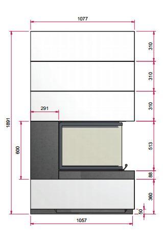 Kaminbausatz CAMINA S14 9kW Speicheranlage