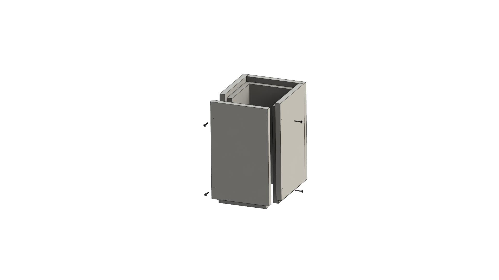 Leichtbauschornstein - Schachtelement 500 mm verschraubt - Jeremias F90