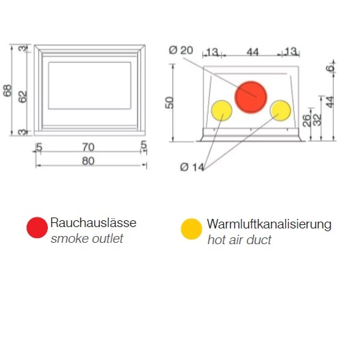 Kamineinsatz Edilkamin Firebox Luce Plus 62 9,6kW