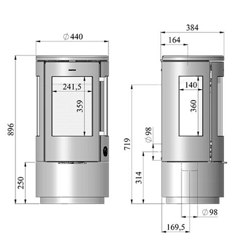 Kaminofen Morsoe 7440 4,3 kW