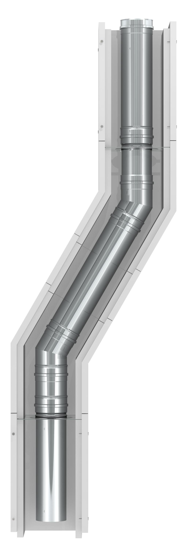 Leichtbauschornstein F90 - raumluftunabhängig - Innenrohr mit Ø 100 mm - Jeremias