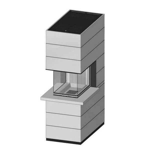 Kaminbausatz SPARTHERM SIM Arte U-70h 11,4kW mit Feuertisch