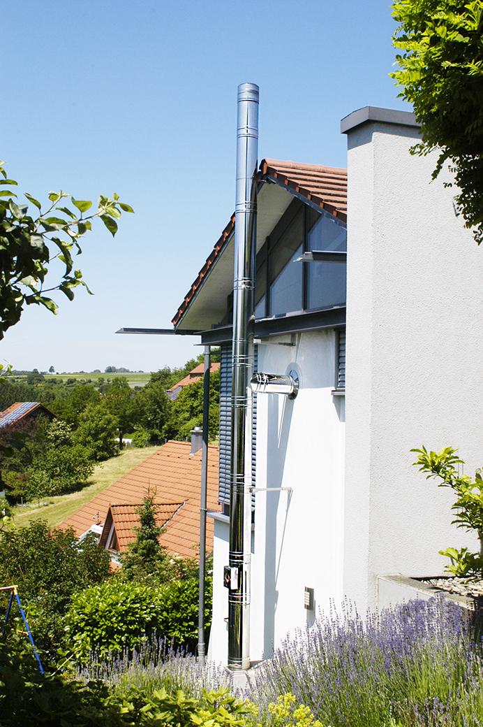 Edelstahlschornstein doppelwandig Ø 80 mm - Jeremias DW-FU