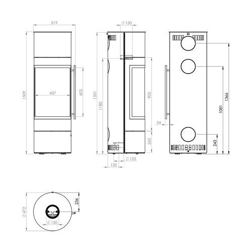 Kaminofen Olsberg Pular PowerBloc! Compact 5kW
