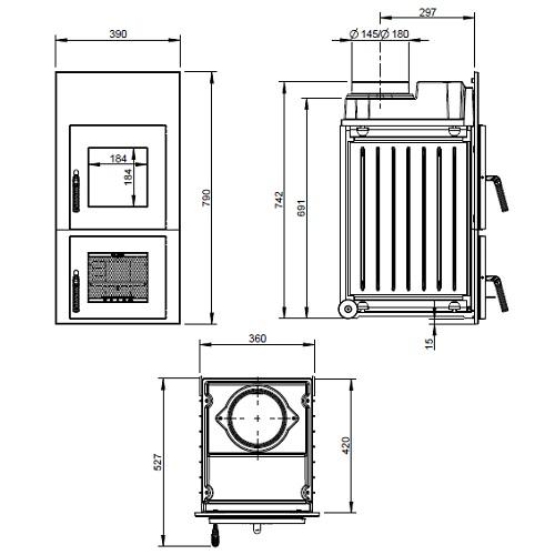 Heizeinsatz LEDA Rubin K16 6-7kW