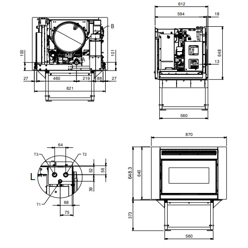 Pellet Kamineinsatz La Nordica Extraflame Comfort Idro L80 19kW wasserführend