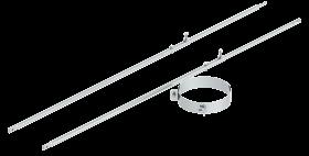2-Punktabspannung mit Rundrohr verschiedene Längen für Jeremias DW-FU und DW-Silver