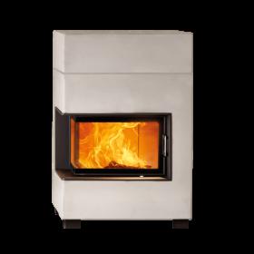 Kaminbausatz Austroflamm LEX63, Designkamin 6,5kW, Klapptüre