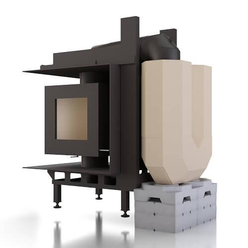 Kachelofeneinsatz Brunner DF 33 Doppelglasscheibe mit MSS, 9 kW