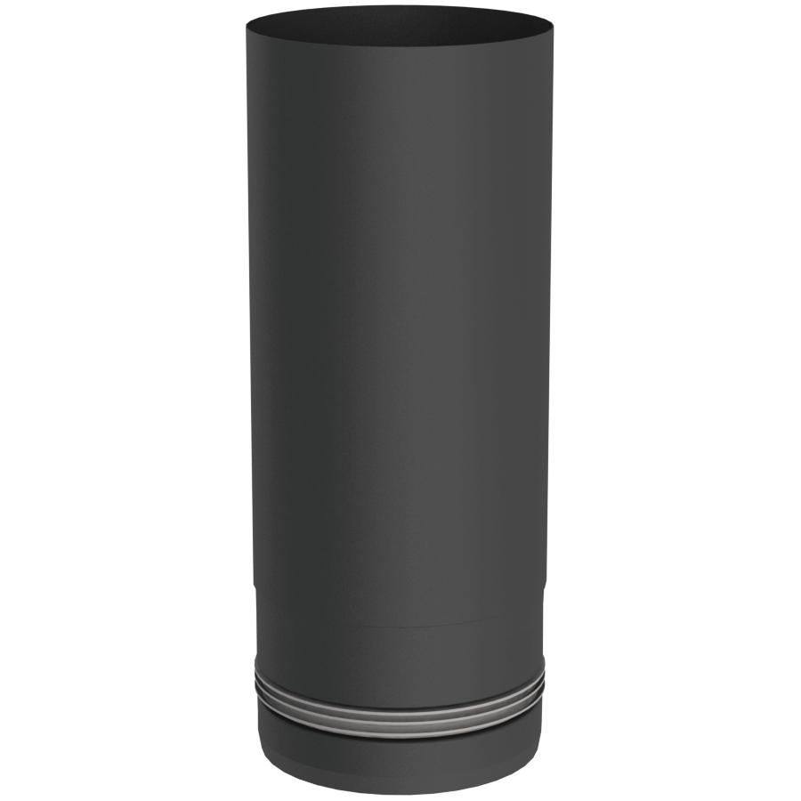 Pelletofenrohr - Längenelement 250 mm - schwarz lackiert - Jeremias Pellet-Line