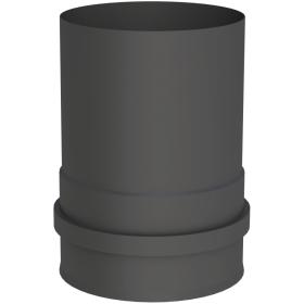 Kesselanschluss mit Doppelmuffe, schwarz lackiert