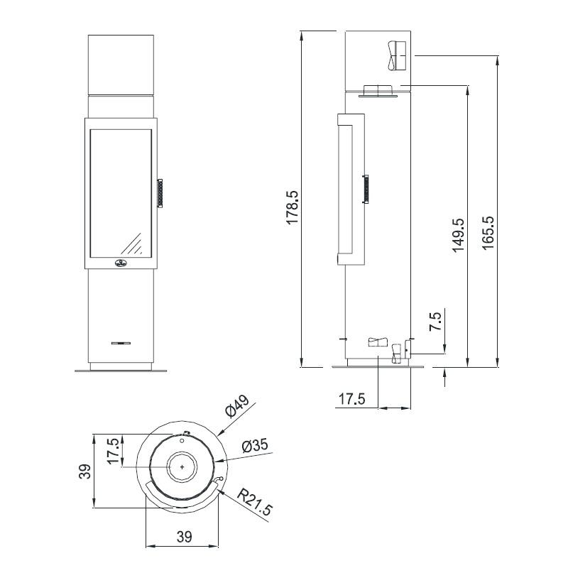 Kaminofen Max Blank DIJON L 8,5kW