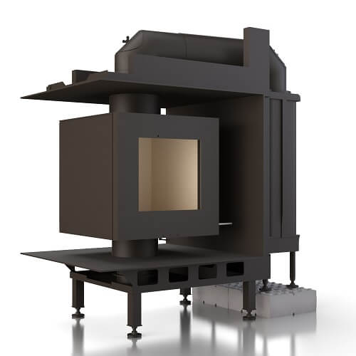 Kachelofeneinsatz Brunner DF 33 Doppelglasscheibe mit GNF 8, 6 kW