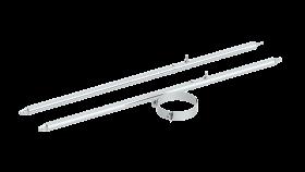 2-Punktabspannung mit Rundrohr verschiedene Längen verstärkte Ausführung für Jeremias DW-FU und DW-Silver