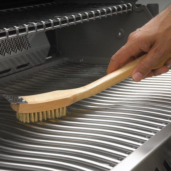 Grillzubehör Napoleon - Messing-Grillbürste mit Holzgriff