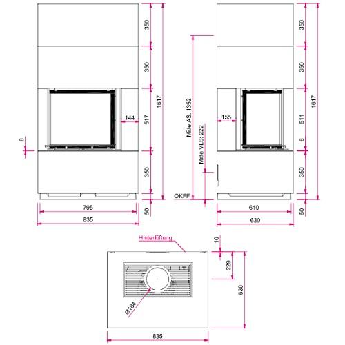 Kaminbausatz CAMINA S17 5kW Speicheranlage