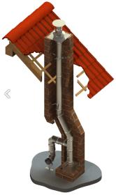 Schornsteinsanierung einwandig Ø 80 mm - Jeremias EW-SILVER