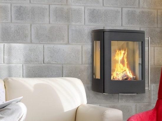 Kaminofen Jydepejsen Senza Wall Sideglass 5kW