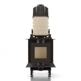 Kachelofeneinsatz Brunner DF 33 Doppelglasscheibe mit Modul-Aufsatz-Speicher MAS, 9 kW