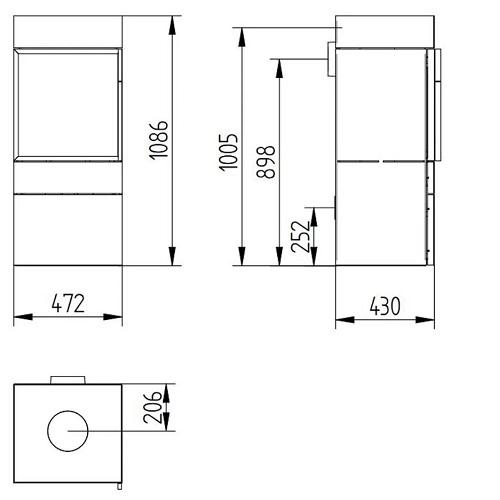 Kaminofen Jydepejsen Cubic 109 8kW