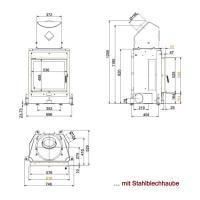 Kamineinsatz Brunner Kompaktkamin 51/55 8kW Flachglas Drehtür