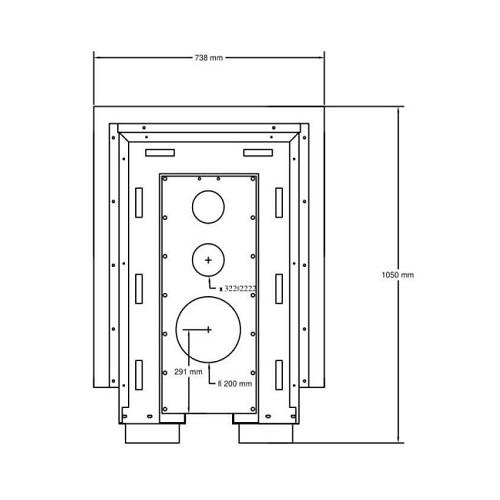 Kamineinsatz A Caminetti Crystal 3D 50x70 14 kW