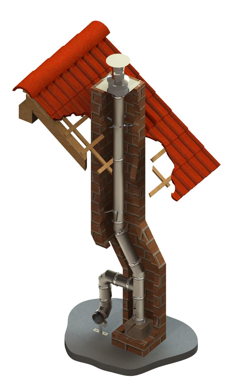 Edelstahlschornstein einwandig Ø 130 mm - Jeremias EW-FU