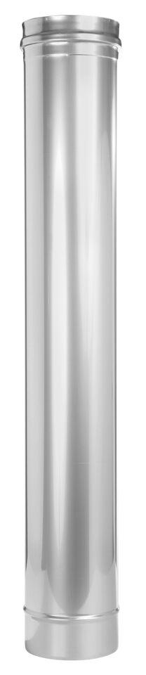 Edelstahlschornstein - Längenelement 1000 mm - einwandig - Jeremias EW-FU