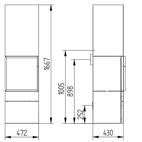 Kaminofen Jydepejsen Cubic 166 8kW