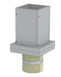 Anschlußteil mit Doppelwandfutter für runde Schornsteine Ø 120 mm