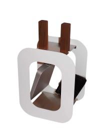 Kaminbesteck Lienbacher Cube 2-teilig, Weiß