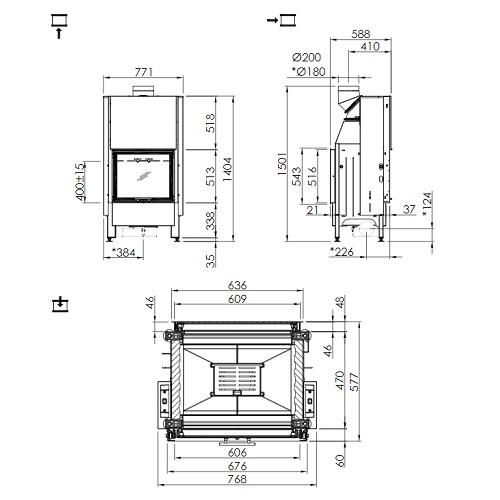 Kamineinsatz SPARTHERM Mini S-FDh 6kW Schiebe-/Schiebetür Durchsicht