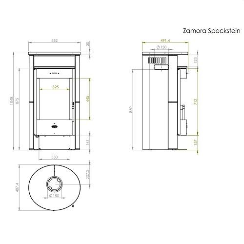 Kaminofen Fireplace Zamora 6kW
