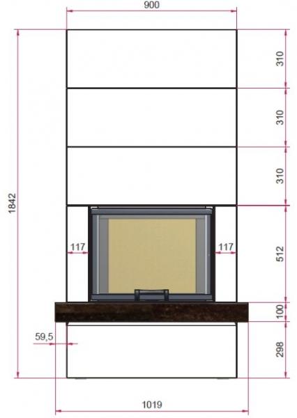 Kaminbausatz CAMINA S13 9kW Speicheranlage