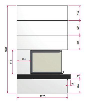 Kaminbausatz CAMINA S15 9kW Speicheranlage