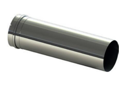 Edelstahlrohr L = 500 mm V2A - Zuluftsystem