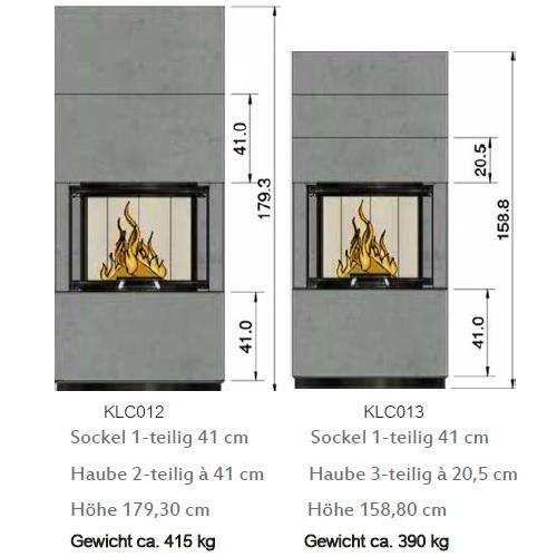 Kaminbausatz Cera Design Linea KLC Beton 7kW