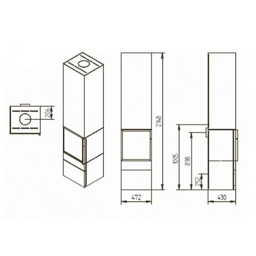 Kaminofen Jydepejsen Cubic 215 8kW