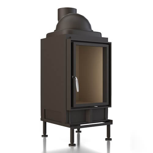 Kachelofeneinsatz Brunner HKD 2.2, Drehtür Flachglas, 9 kW