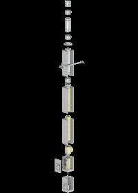 Leichtbauschornstein F90-Bausatz Wohnzimmervariante mit Innenrohrdurchmesser 150 mm