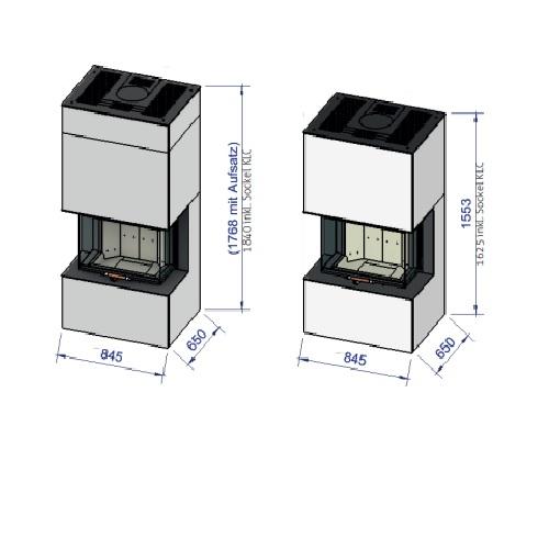 Kaminbausatz Cera Design Linea KLC SilcaHeat 7kW