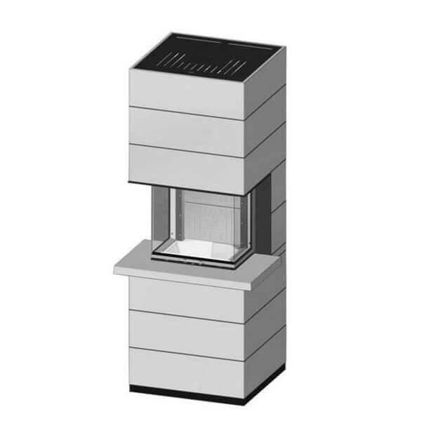 Kaminbausatz SPARTHERM SIM Arte 3RL-60h 10kW mit Feuertisch